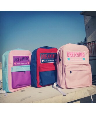 bag pink backpack cool trendy back to school stylish fashion style baby pink it girl shop