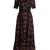 Love Blade-print silk-chiffon gown