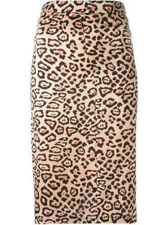 skirt women nude print silk leopard print