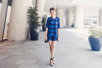 tricia gosingtian blogger top shorts shoes bag jewels
