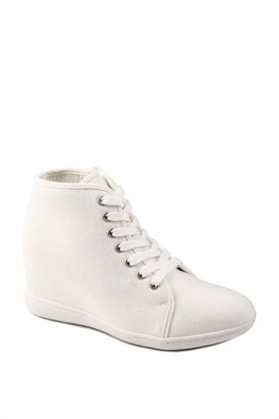 wedges, sneakers, wedge sneakers, white, tennis shoes ...