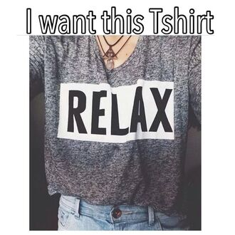 t-shirt fashion style cool relax jewels grey t-shirt