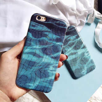 phone cover pool summer cool iphone case teenagers fashion style blue trendy boogzel water iphone cover