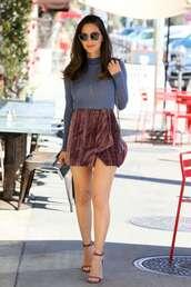 skirt,mini skirt,celebrity,olivia munn,velvet