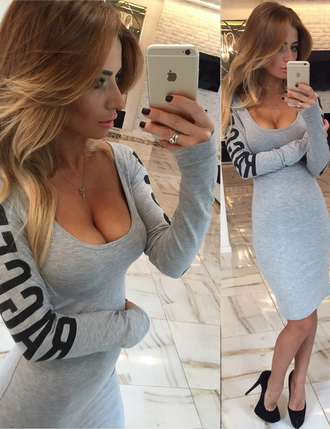 dress boho dress dress corilynn prom dress lace dress textured top grey bodycon dress bodycon bodycon prom dress midi bodycon dress plunge dress outfit outfit idea fall outfits tumblr outfit winter outfits cute outfits streetwear streetstyle hipster trendy
