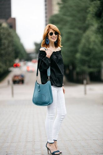 themiddlepage blogger top jeans jewels shoes bag