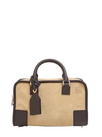 mini bag suede black beige