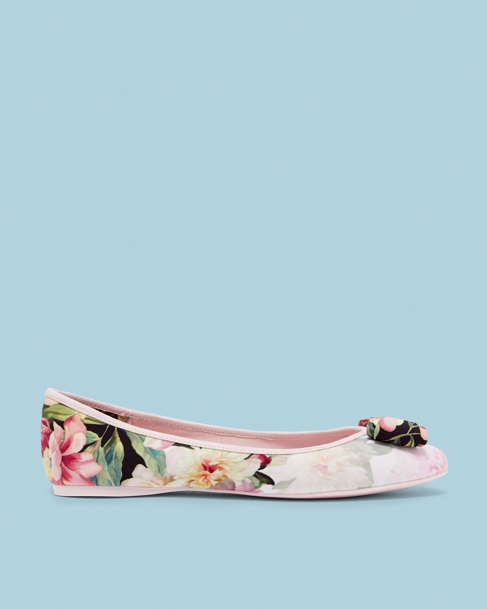 71e1294e5c33 Ted Baker Printed bow detail pumps Baby Pink