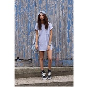 dress,grey,t-shirt,cotton,oversized,t-shirt dress,blue dress,blue hat,vans,black socks,hat,cap,shirt,shorts,shoes,socks,bag,backpack,watch,blue,black,white,top,crewneck,swag,urban,clothes,vintage,sneakers,grunge,style,blouse,grey t-shirt