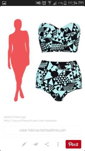 swimwear high waisted bikini bustier crop top