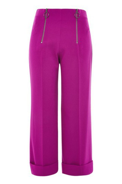 Topshop pants zip purple