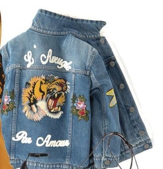 jacket denim denim jacket grunge 90s style tiger animal face print animal animal print floral flowers