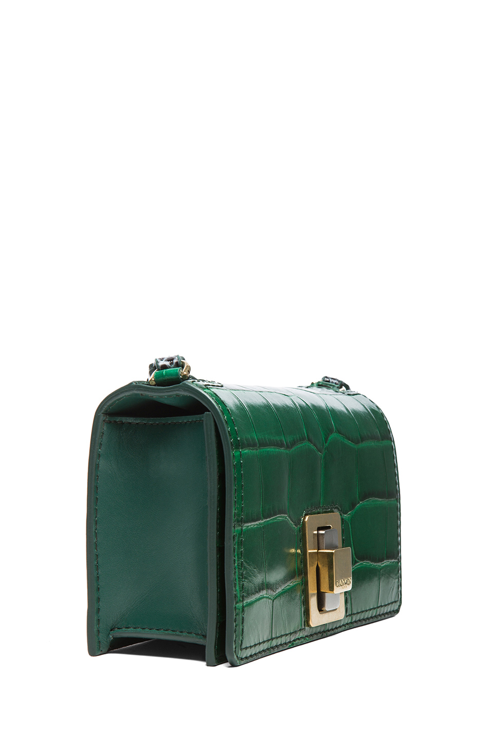 Lanvin | Mini Rigid Bag in Emerald Green