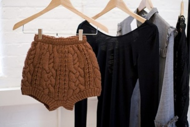 shorts cable knit