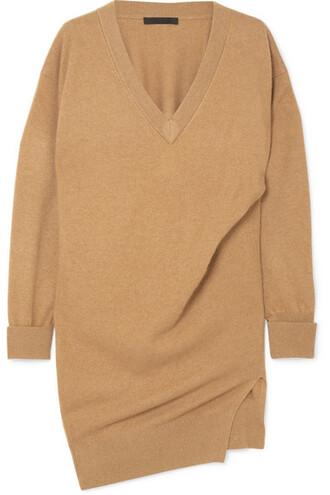 dress mini dress knitted mini dress mini oversized camel