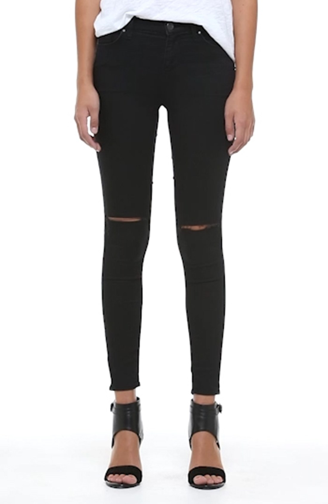 90d33a6def3 Topshop Moto 'Leigh' Ripped Skinny Jeans (Short & Regular) | Nordstrom