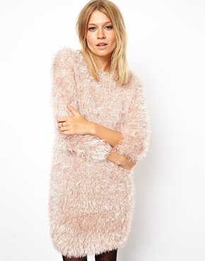 ASOS | ASOS Fluffy Sweater Dress at ASOS