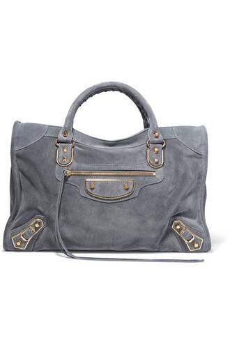 metallic classic suede bag
