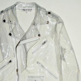 jacket biker jacket clear tumblr outfit pale grunge raincoat
