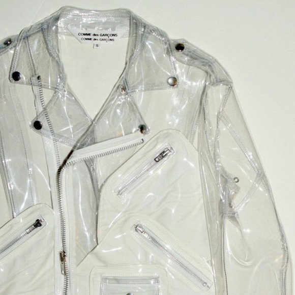 jacket raincoat clear tumblr outfit biker jacket clear jacket pale grunge pale division pale transparency