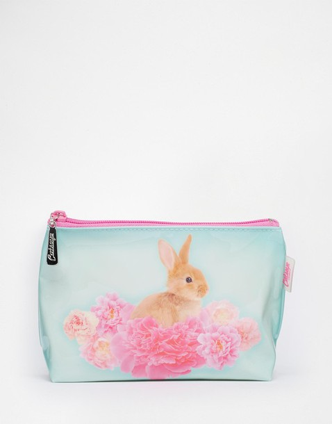 home accessory makeup bag make-up pastel easter spring cute bunny
