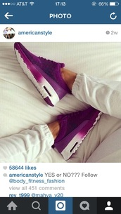 shoes,purple shoes,nike shoes,white shoes,pretty,running shoes