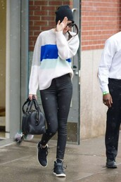 sweater,kendall jenner,pants,sneakers,shoes