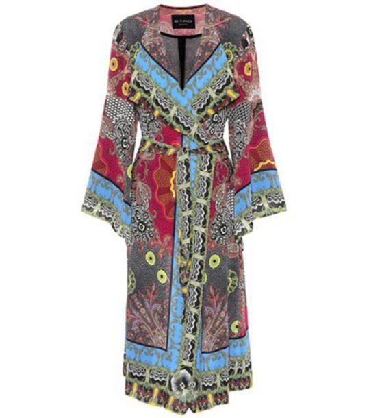 ETRO coat silk