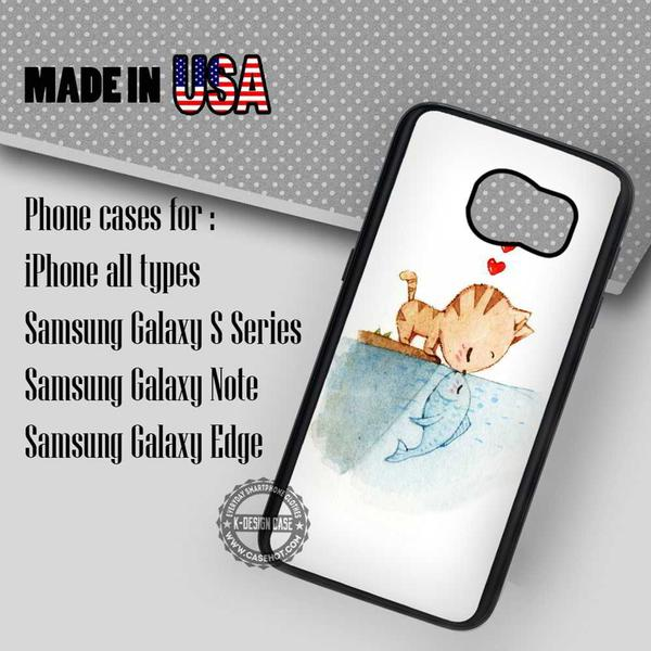 Samsung S7 Case - Kissing A Fish- iPhone Case #SamsungS7Case #TheLittleMermaid #yn