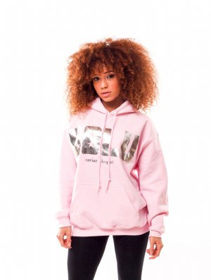 Baby Pink BBLU Hoodie With Metallic Ink - Caviar Blaque