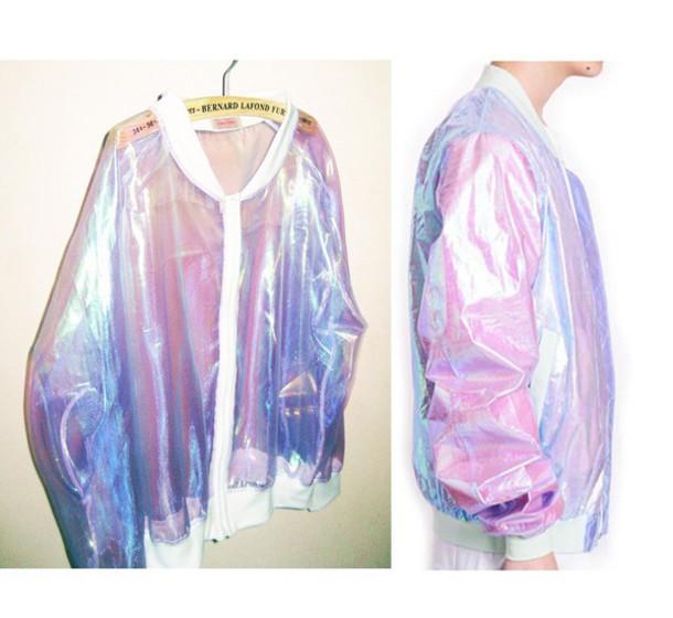 jacket grudge bomber jacket holographic jacket transparent jacket
