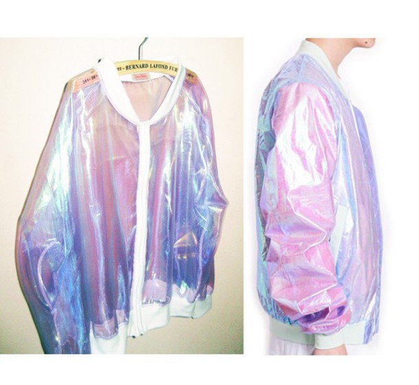 jacket grudge transparent iridescent bomber jacket holographic jacket transparent jacket