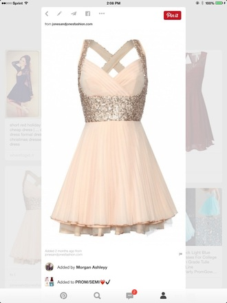 dress sparkles cream dress