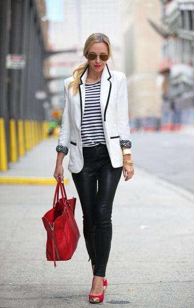 brooklyn blonde jacket pants t-shirt shoes bag jewels sunglasses