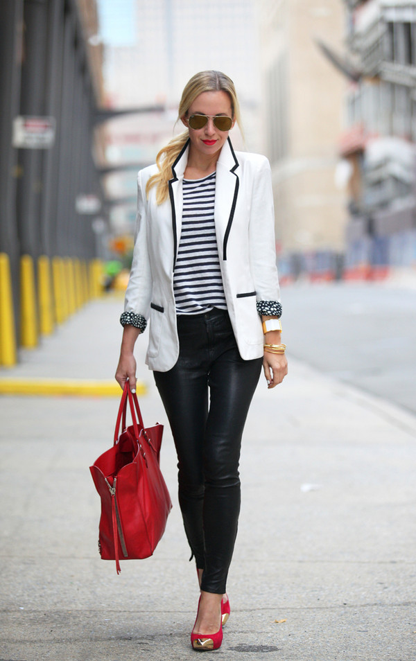 brooklyn blonde jacket pants t-shirt shoes bag jewels sunglasses