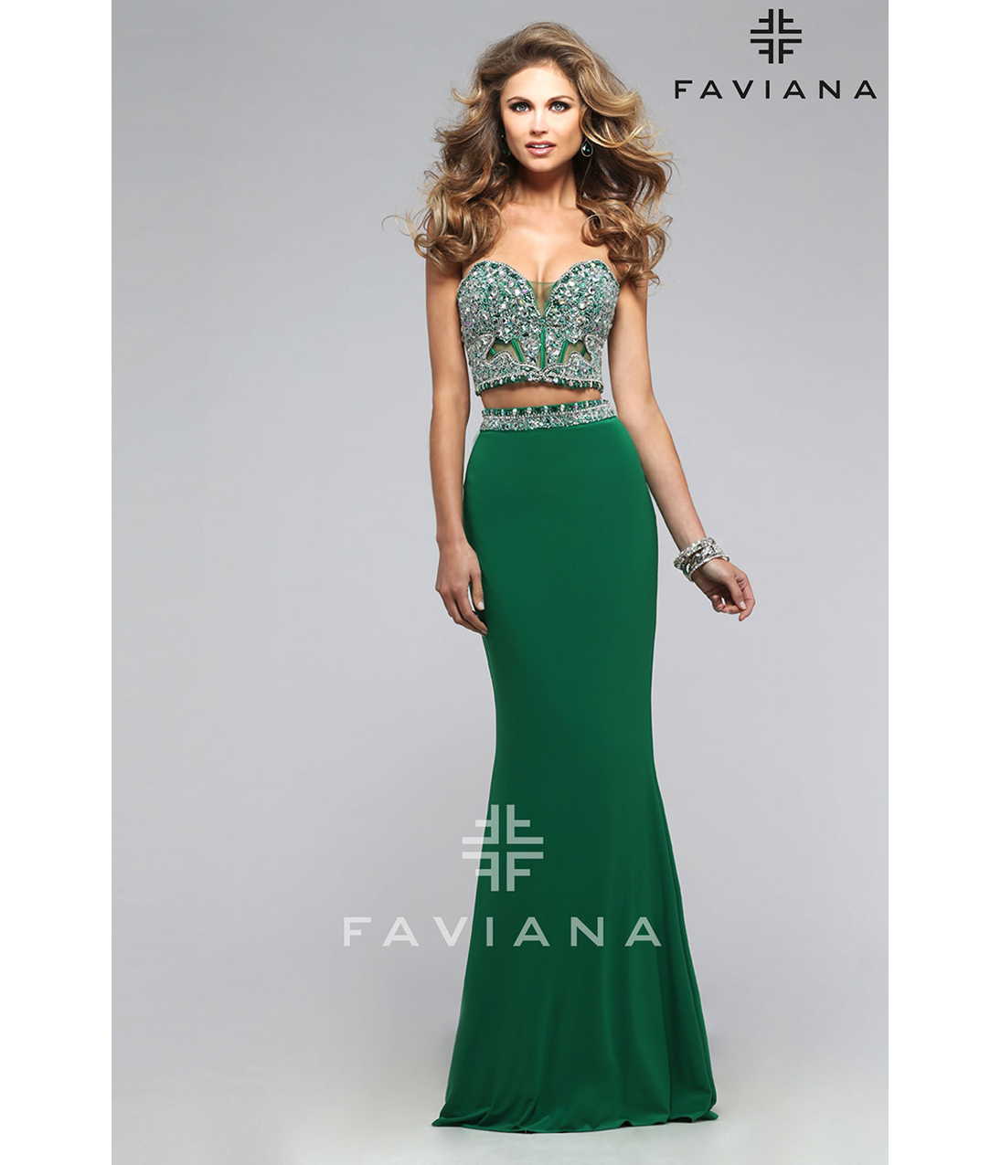 Preorder - Faviana s7524 Emerald Green Two