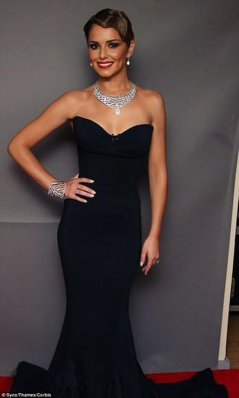 strapless bustier dress cheryl fernandez