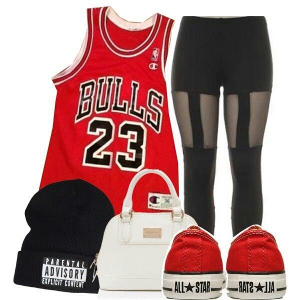 shirt red 23 chicago bulls jordan leggings