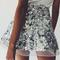 High waist sequin mini skirt