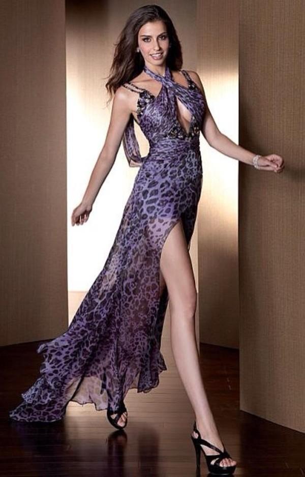dress prom dress leopard print