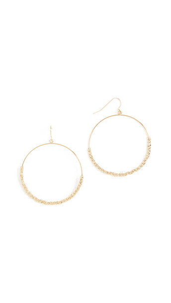 Gorjana Laguna Drop Hoop Earrings in gold
