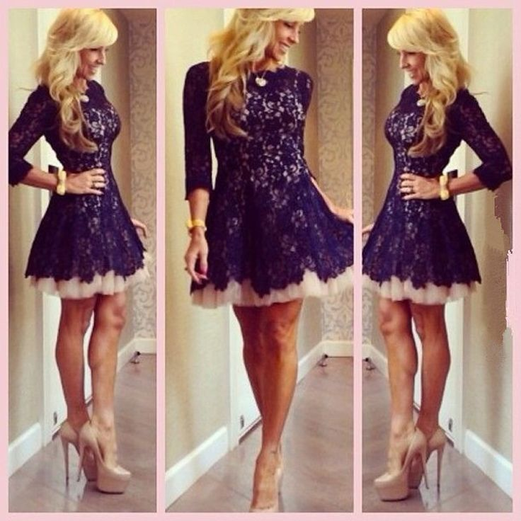Aliexpress.com : buy on sale! 2014 new arrival sexy high neck long sleeves black lace ladies cocktail dresses short party dresses evening dress from reliable dress with long sleeve suppliers on suzhou bestbridaldress co.,ltd