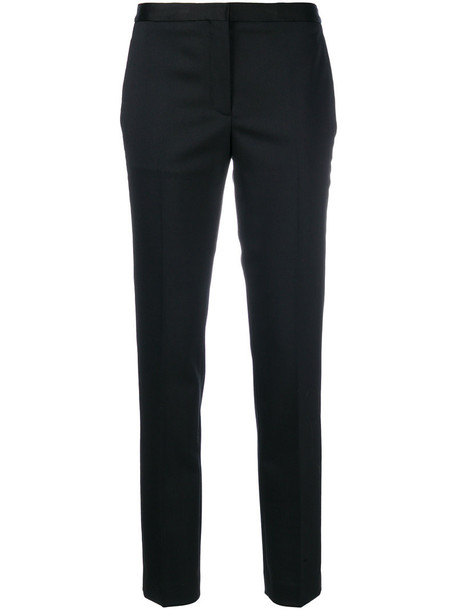 women spandex fit black wool pants