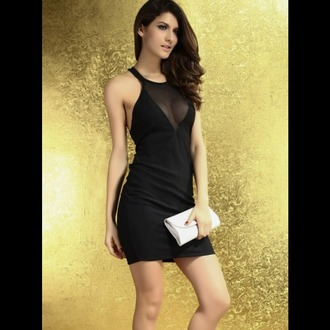 dress black dress halter dress backless dress