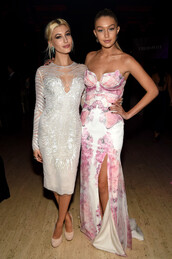 dress,prom dress,hailey baldwin,gigi hadid,bustier dress,silver,butterfly