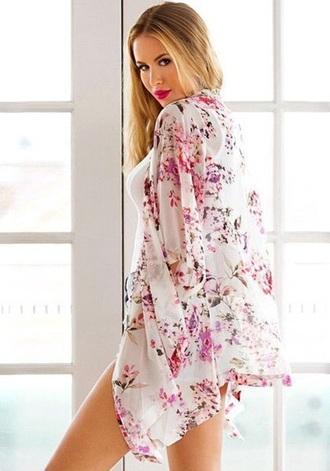 blouse kimono floral fashion style summer spring girly musheng