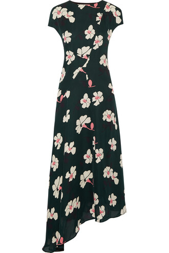 dress midi dress chiffon midi silk