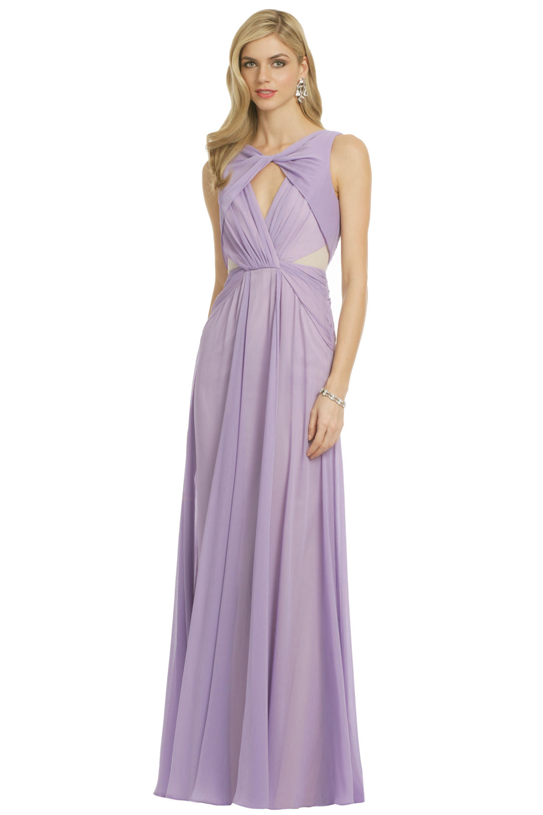 Pastel Petunia Gown by Badgley Mischka at $150 | Rent The Runway