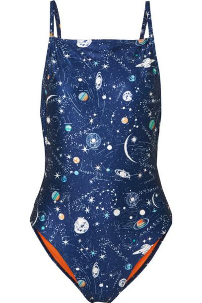 RIXO London navy swimwear