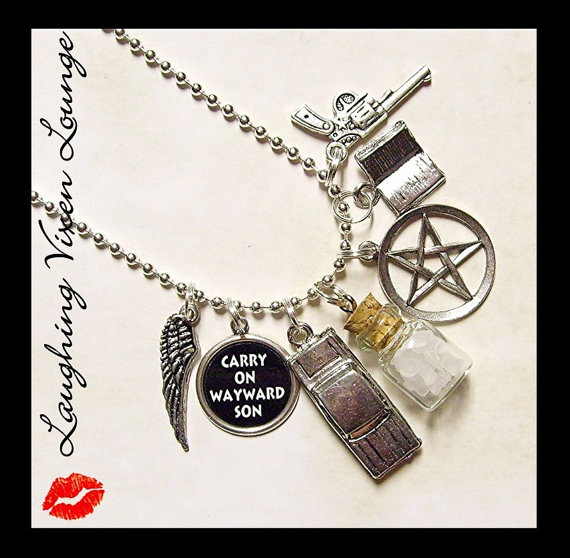 Supernatural Jewelry  Rock Salt Necklace  by LaughingVixenLounge